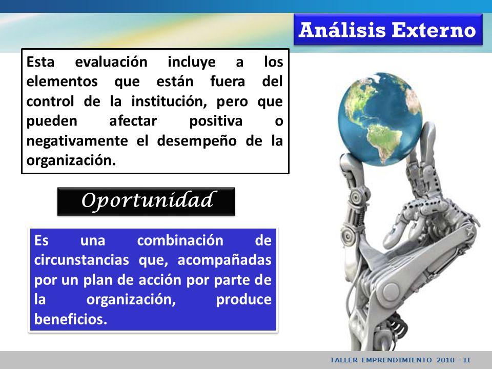 Análisis Externo Oportunidad