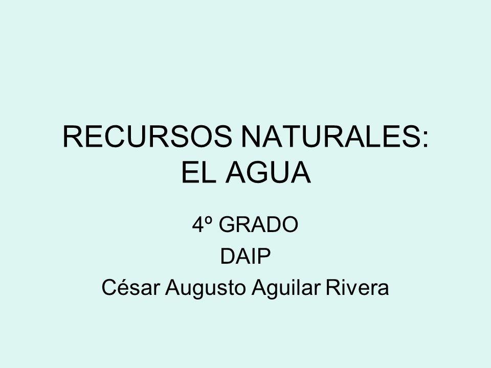 RECURSOS NATURALES: EL AGUA