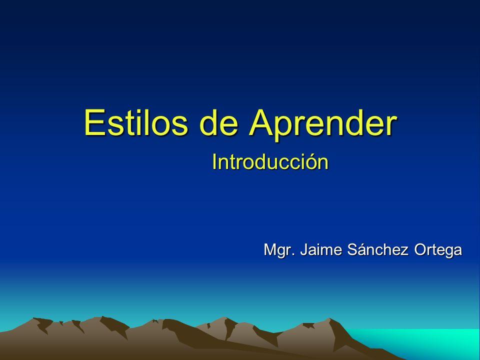 Introducción Mgr. Jaime Sánchez Ortega