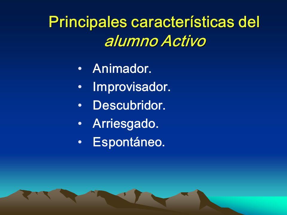 Principales características del alumno Activo