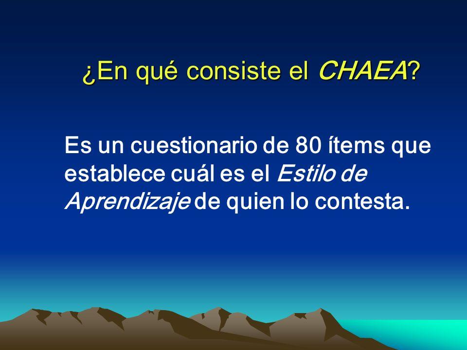 ¿En qué consiste el CHAEA