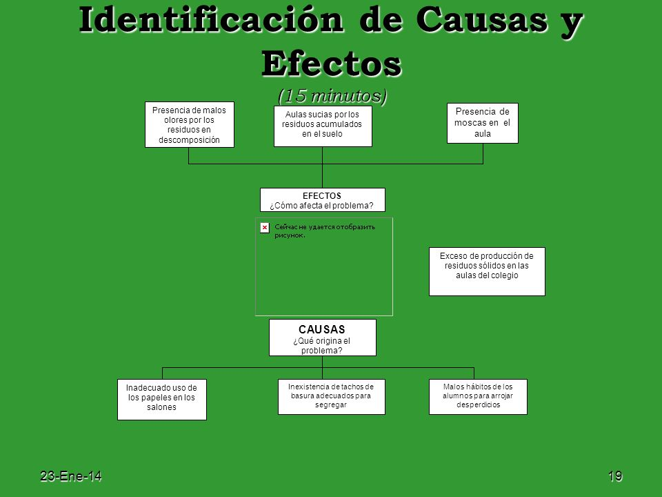 Identificación de Causas y Efectos (15 minutos)