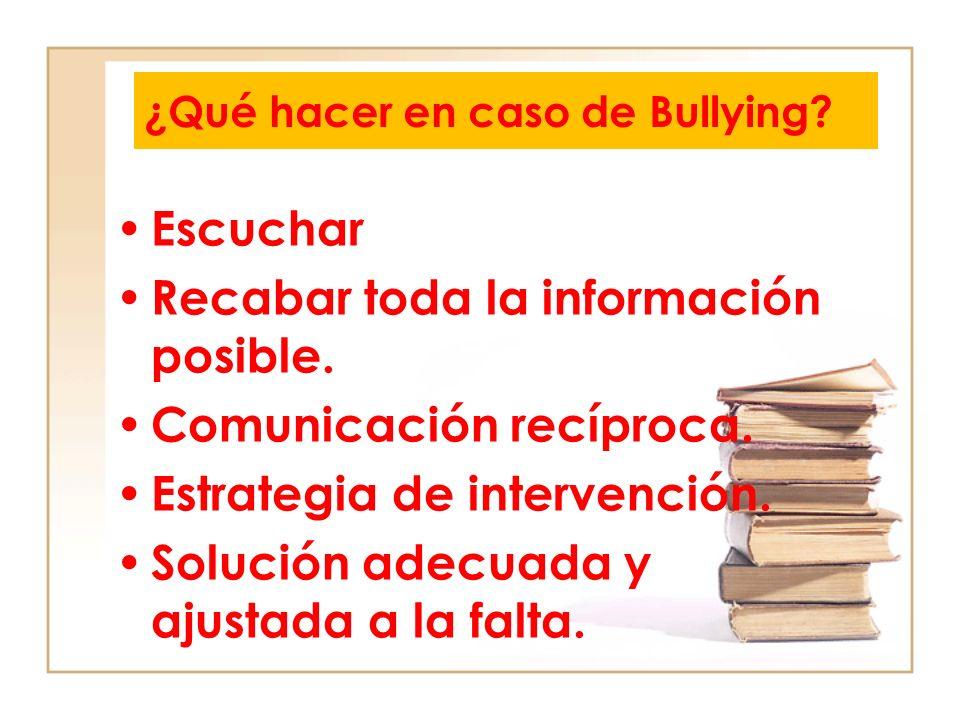 ¿Qué hacer en caso de Bullying