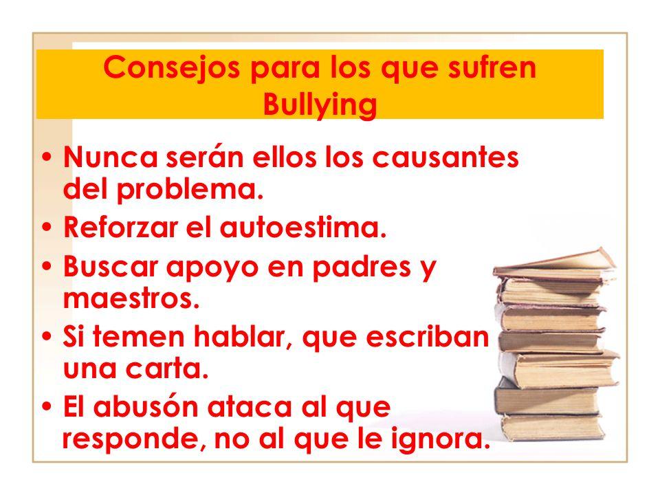 Consejos para los que sufren Bullying