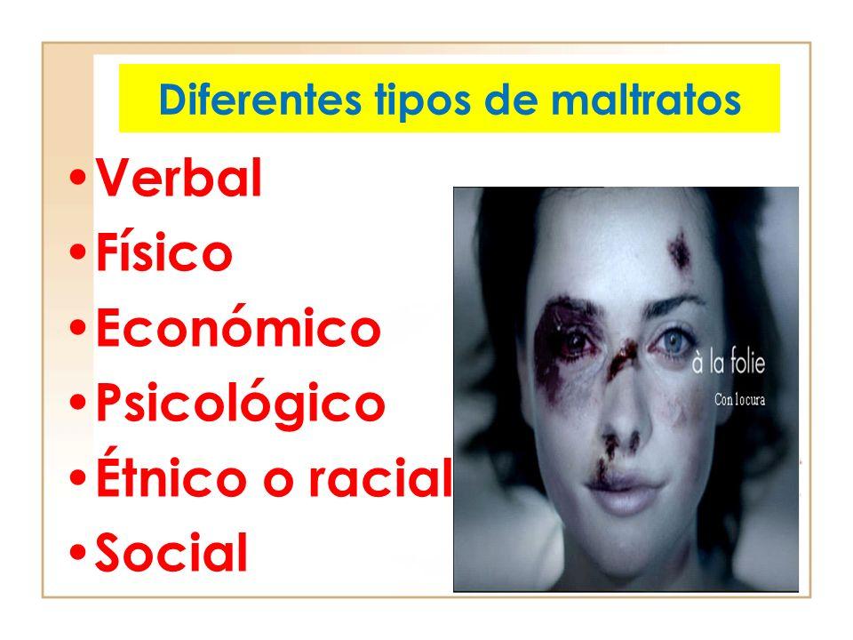 Diferentes tipos de maltratos