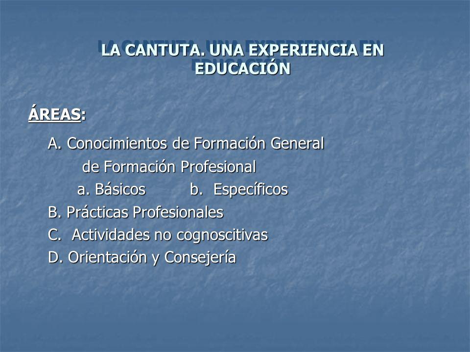 LA CANTUTA. UNA EXPERIENCIA EN EDUCACIÓN