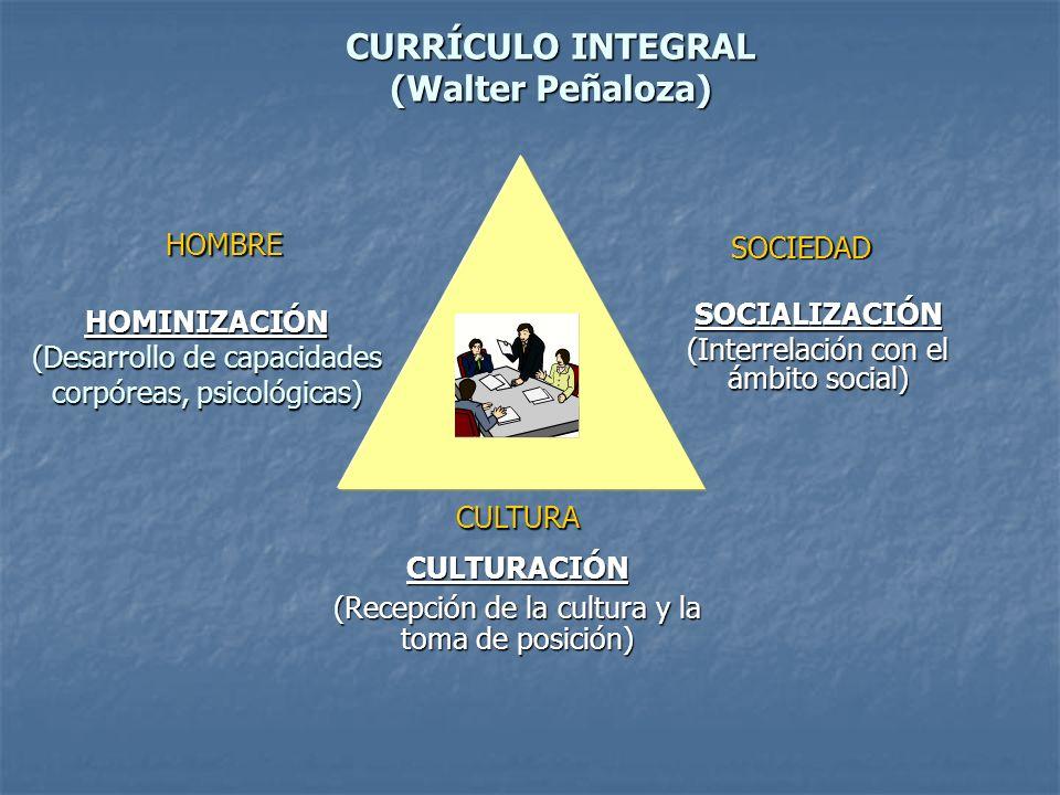 CURRÍCULO INTEGRAL (Walter Peñaloza)
