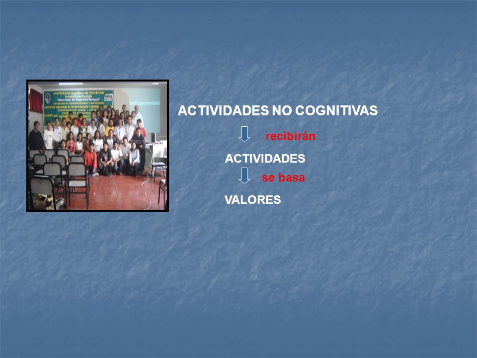 ACTIVIDADES NO COGNITIVAS