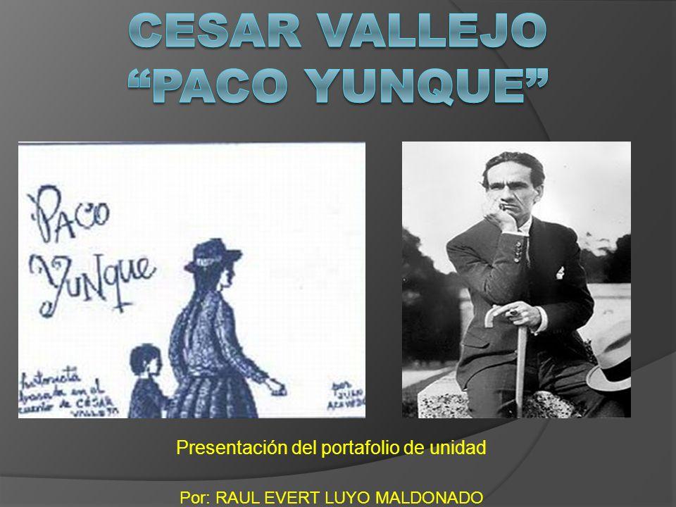 Cesar Vallejo Paco yunque