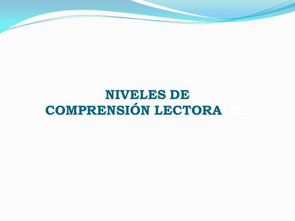COMPRENSIÓN LECTORALEC