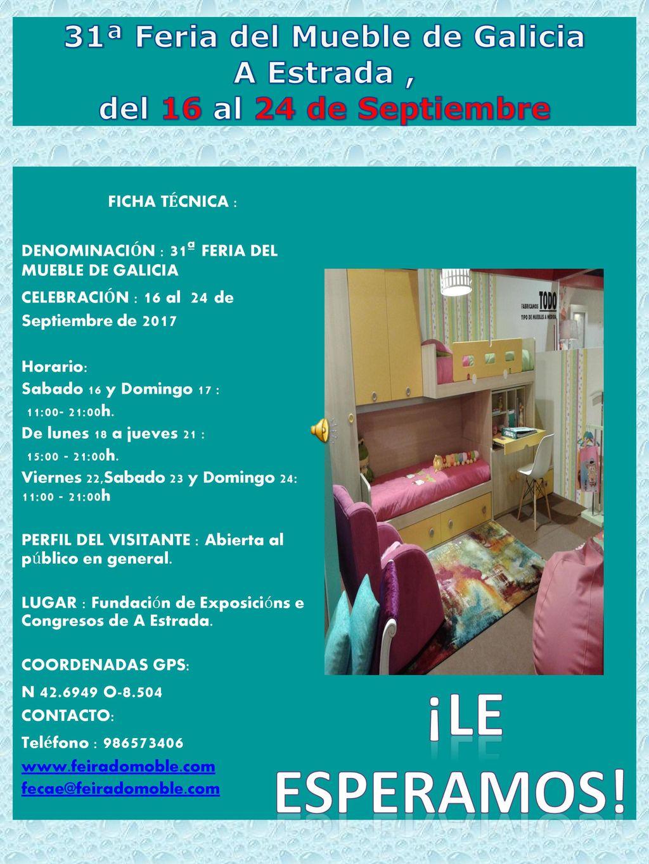 31 Feria Del Mueble De Galicia A Estrada Del 16 Al 24 De  # Muebles Ficha Tecnica