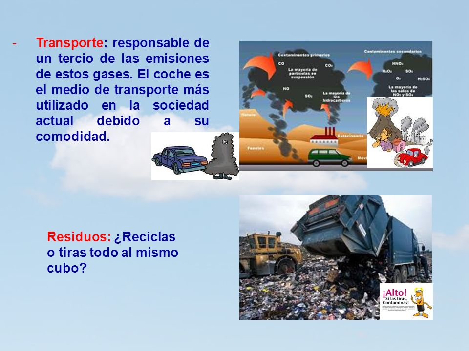 Transporte: responsable de un tercio de las emisiones de estos gases