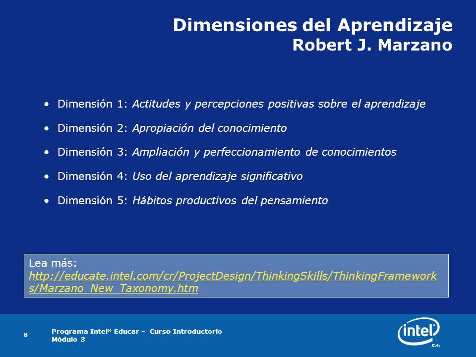 Dimensiones del Aprendizaje Robert J. Marzano