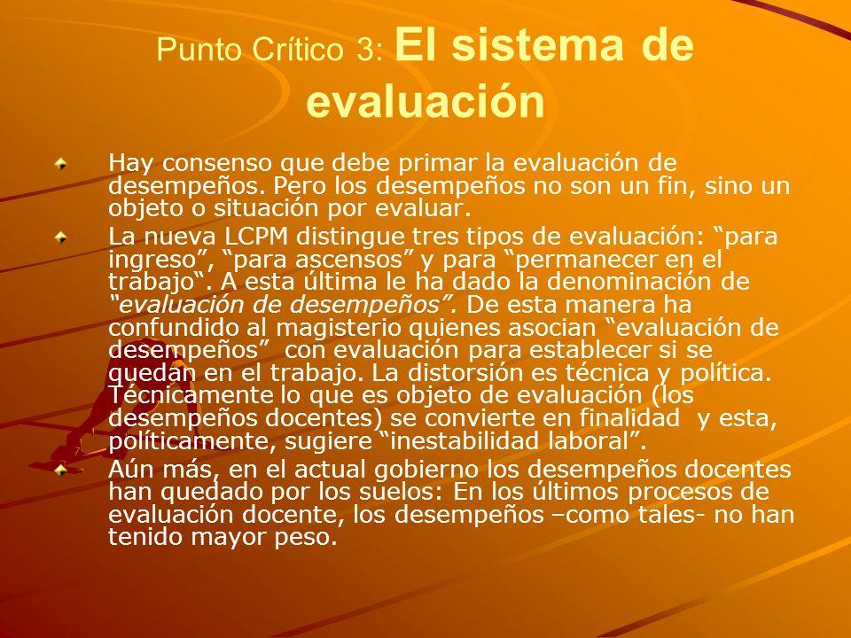 Punto Crítico 3: El sistema de evaluación