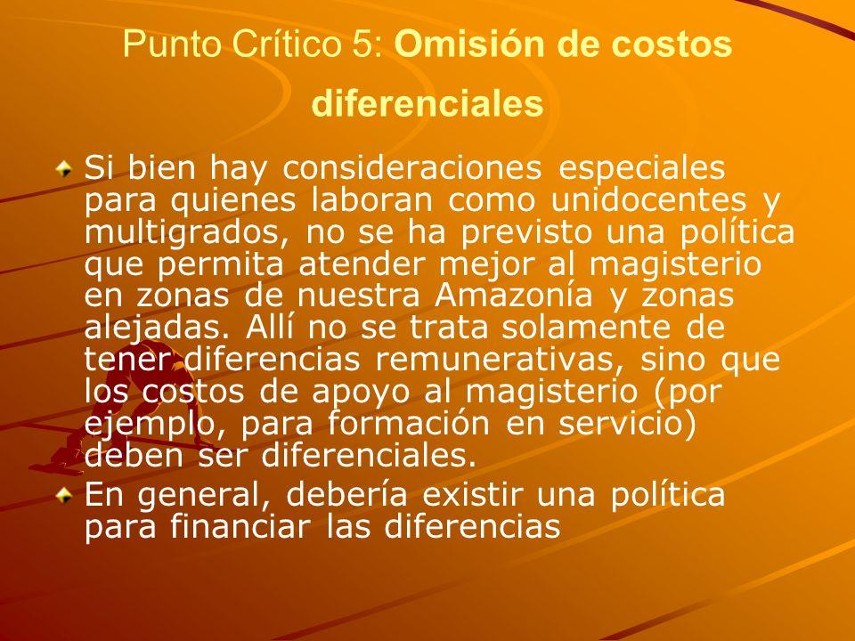 Punto Crítico 5: Omisión de costos diferenciales