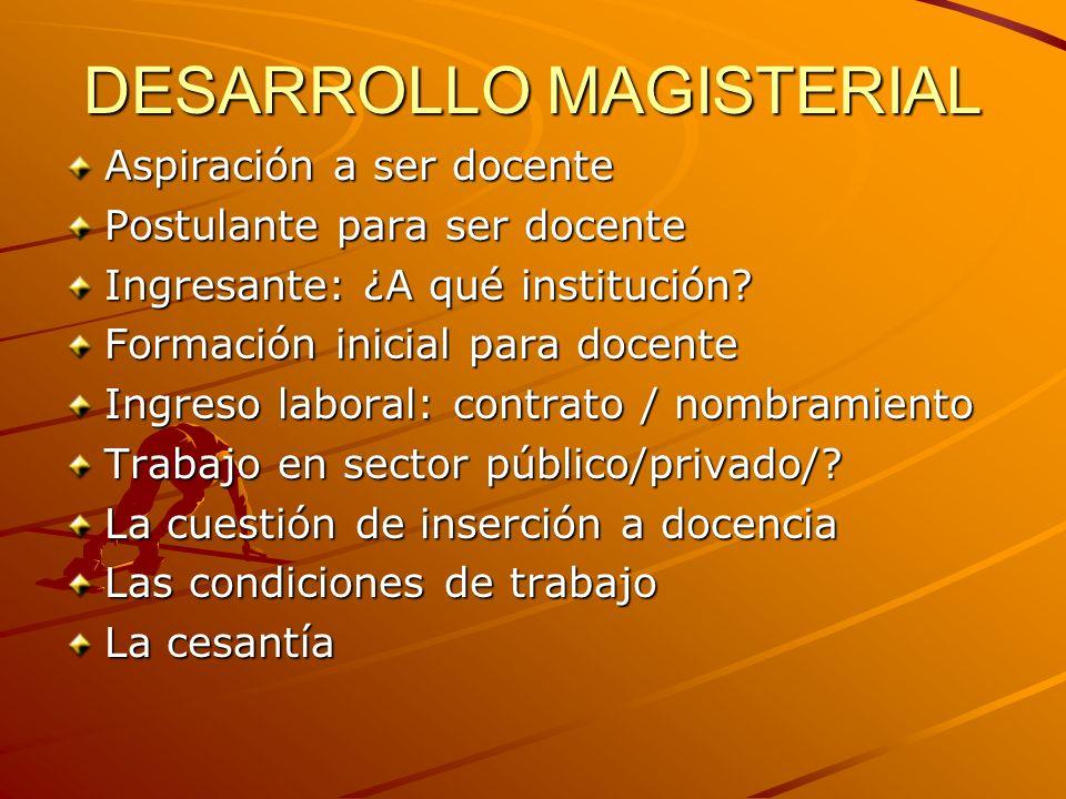 DESARROLLO MAGISTERIAL