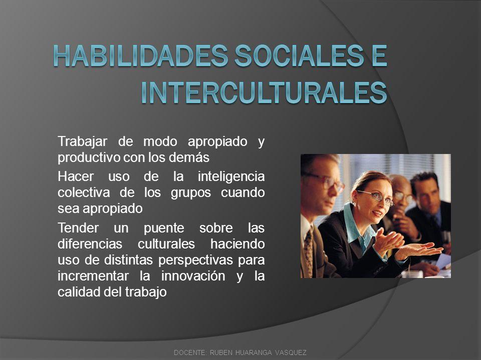 Habilidades sociales e interculturales