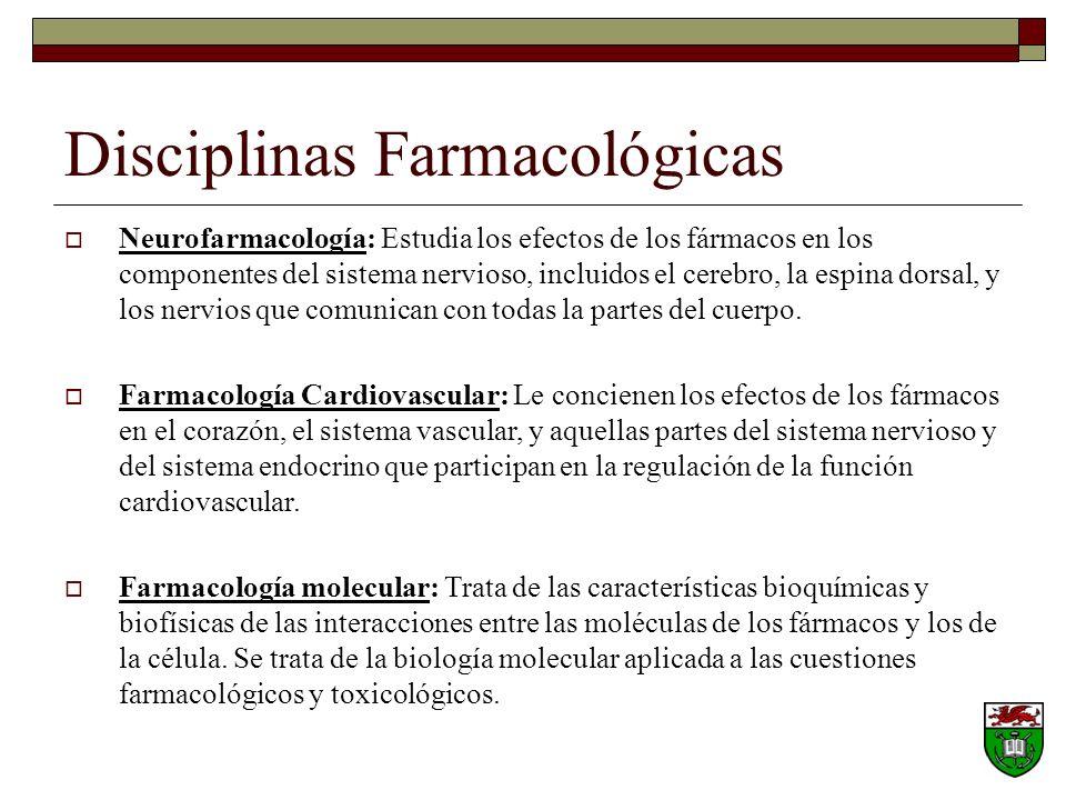 Disciplinas Farmacológicas