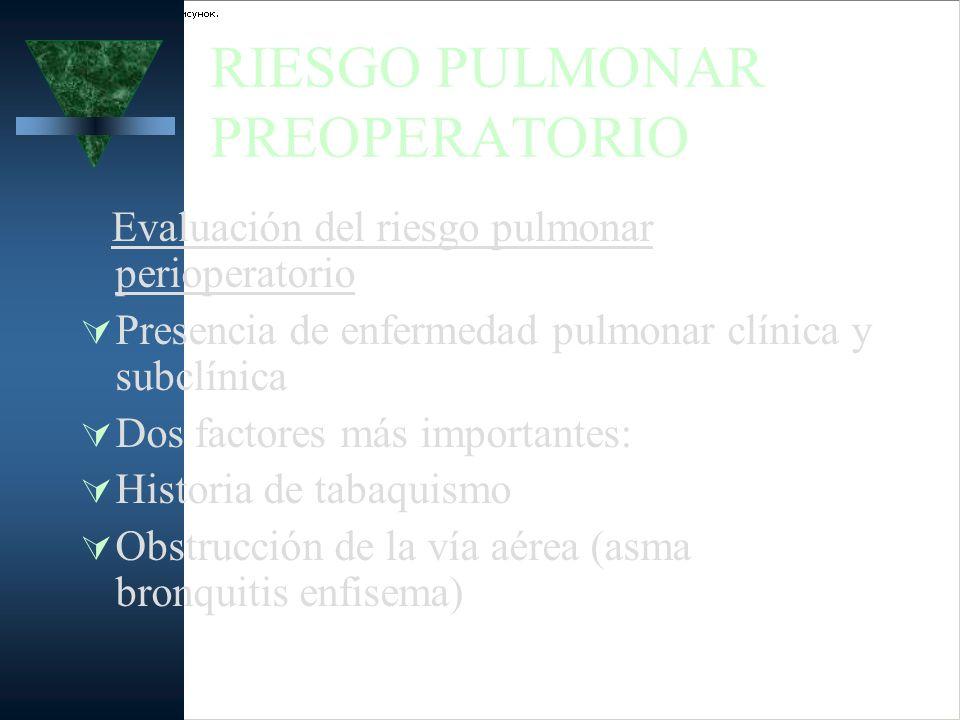 RIESGO PULMONAR PREOPERATORIO