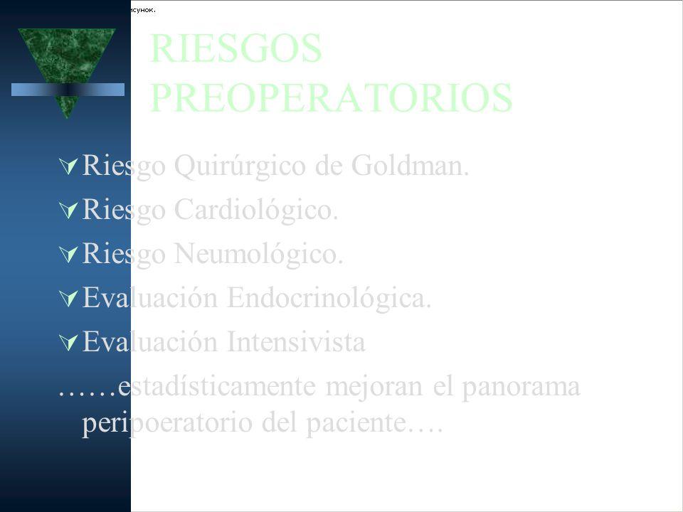 RIESGOS PREOPERATORIOS