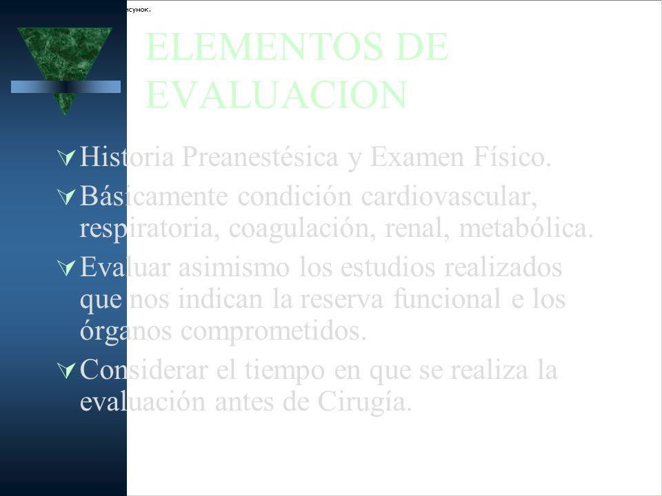 ELEMENTOS DE EVALUACION