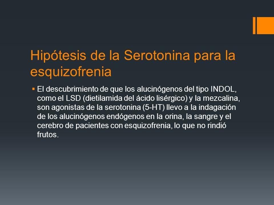 Hipótesis de la Serotonina para la esquizofrenia