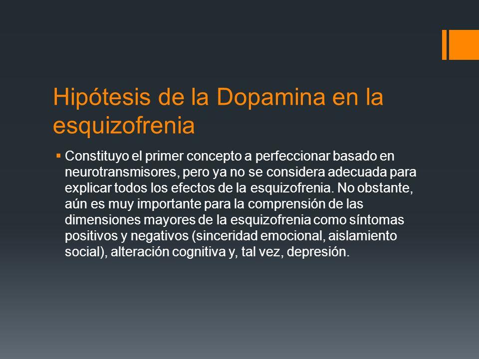 Hipótesis de la Dopamina en la esquizofrenia