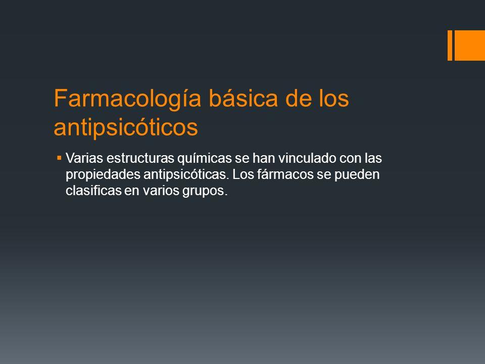 Farmacología básica de los antipsicóticos