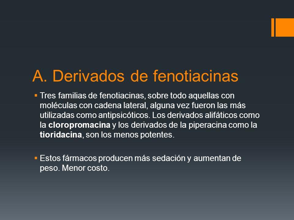 A. Derivados de fenotiacinas