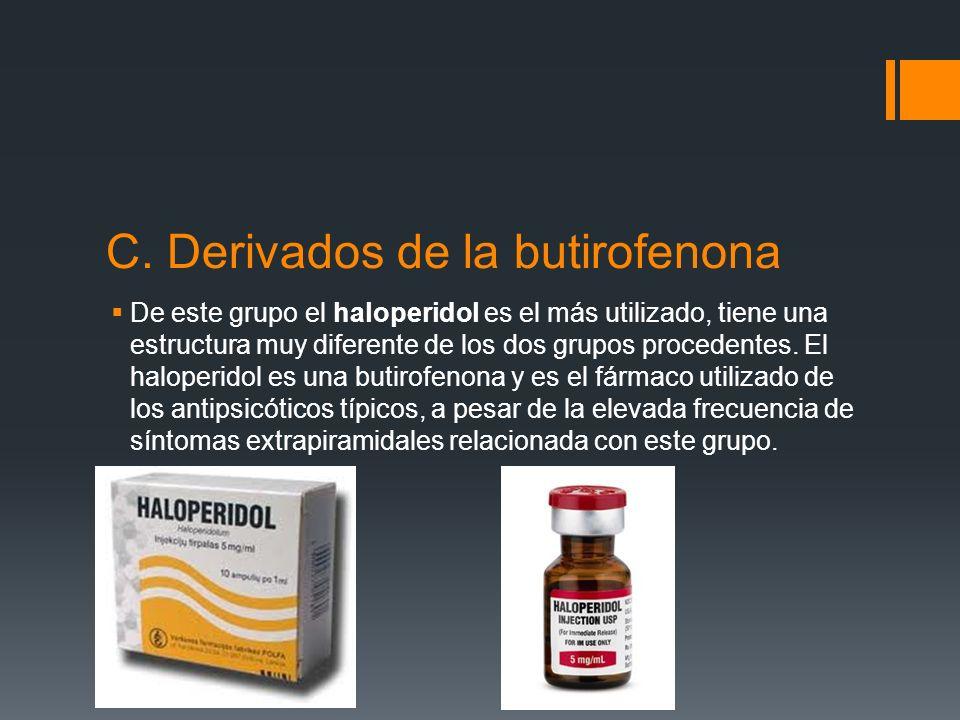 C. Derivados de la butirofenona