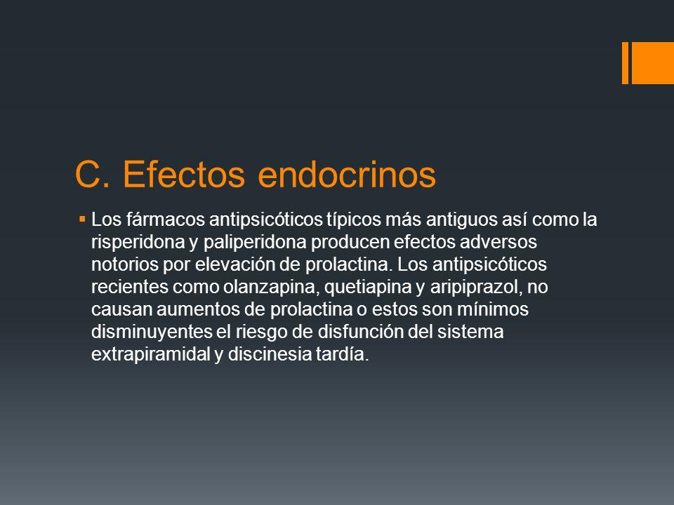 C. Efectos endocrinos