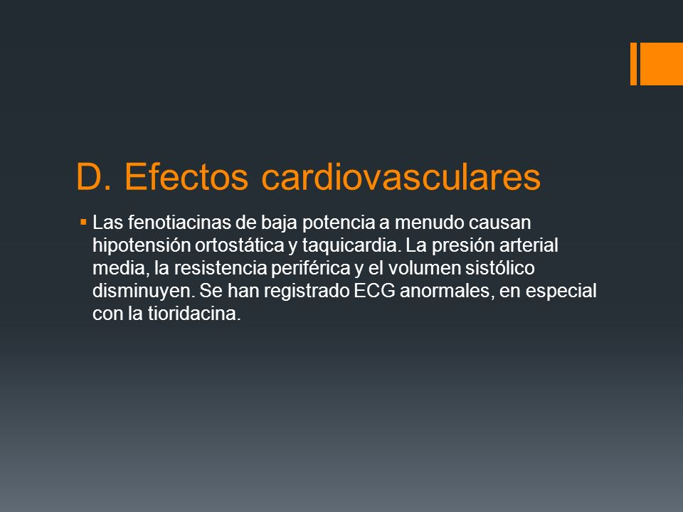 D. Efectos cardiovasculares