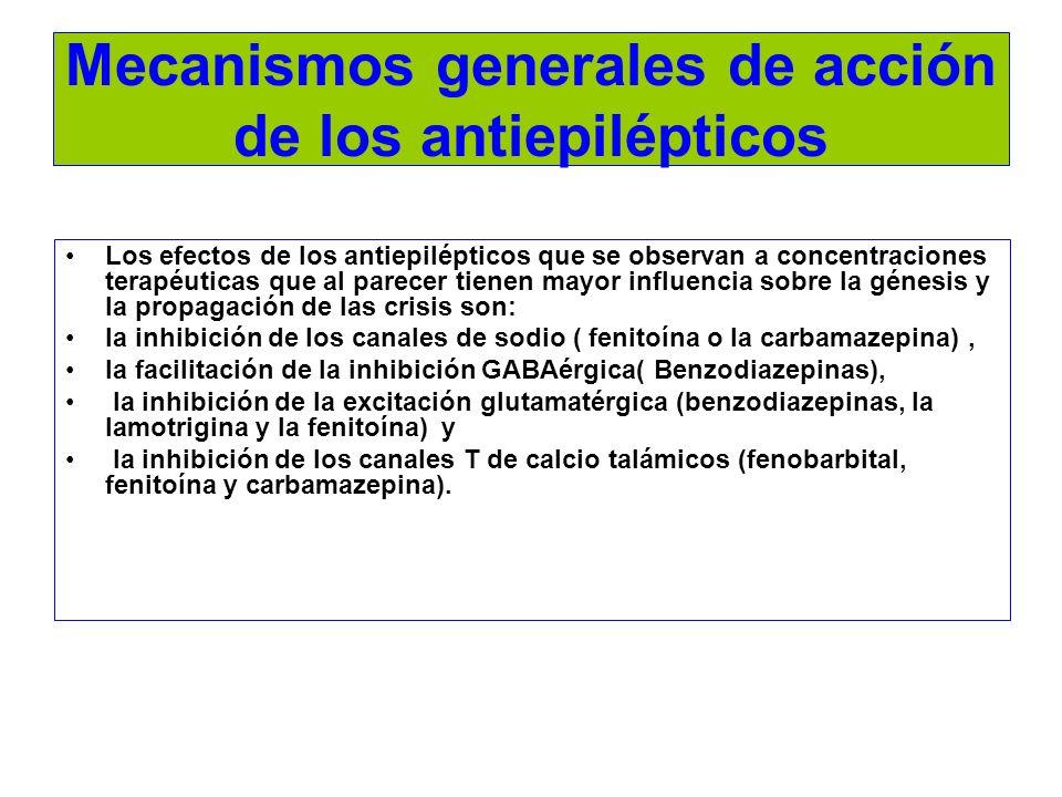 Mecanismos generales de acción de los antiepilépticos