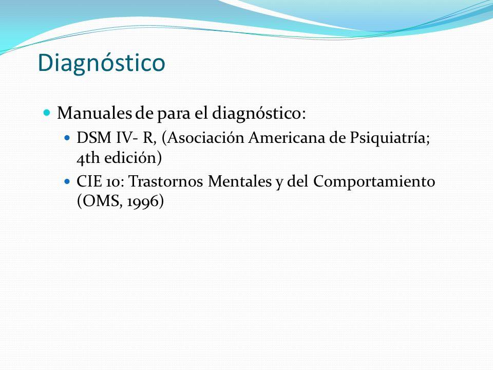 Diagnóstico Manuales de para el diagnóstico: