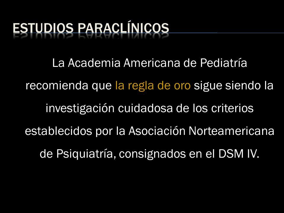 Estudios paraclínicos