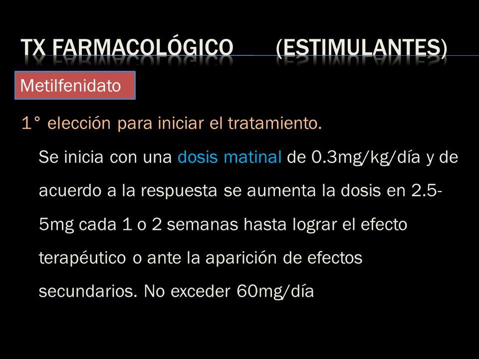 Tx farmacológico (Estimulantes)