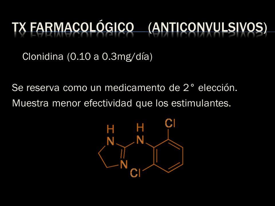 Tx farmacológico (anticonvulsivos)