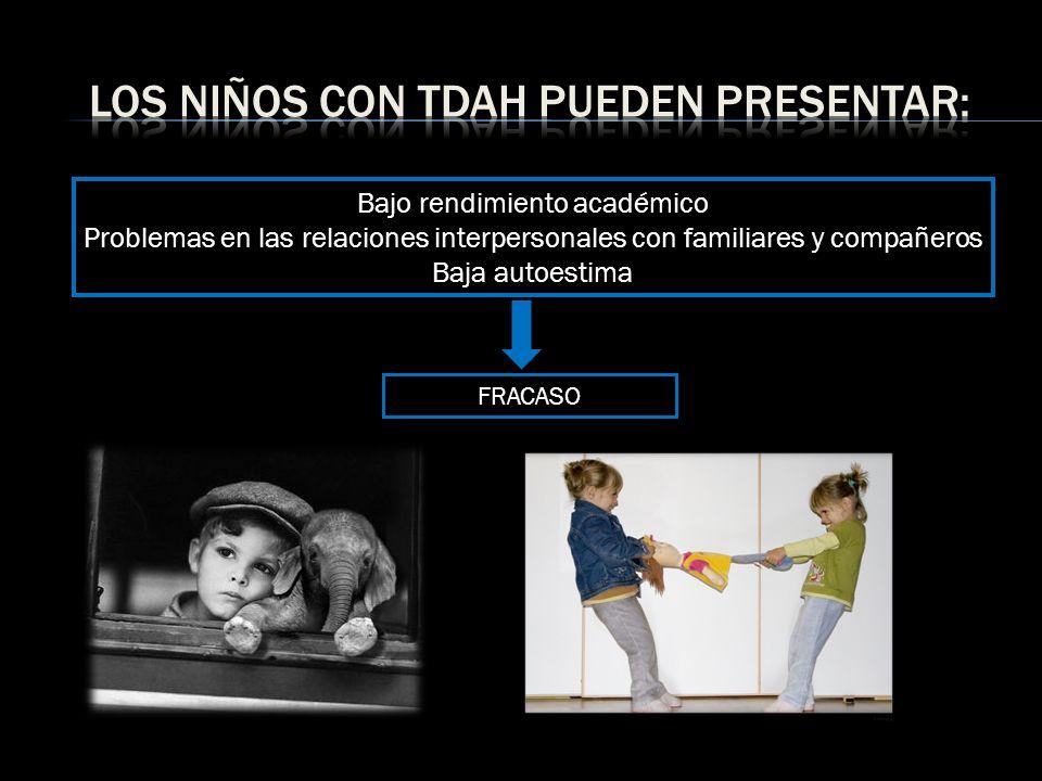 Los niños con tdah pueden presentar: