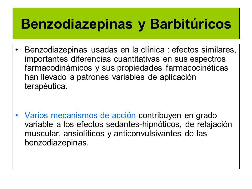 Benzodiazepinas y Barbitúricos