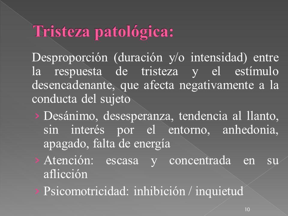 Tristeza patológica: