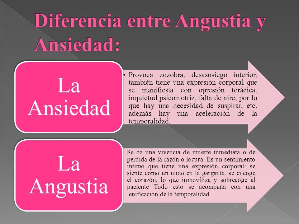 Diferencia entre Angustia y Ansiedad: