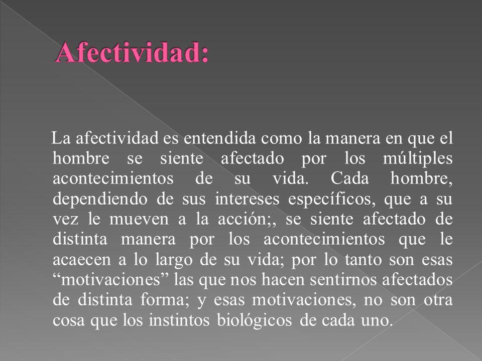 Afectividad: