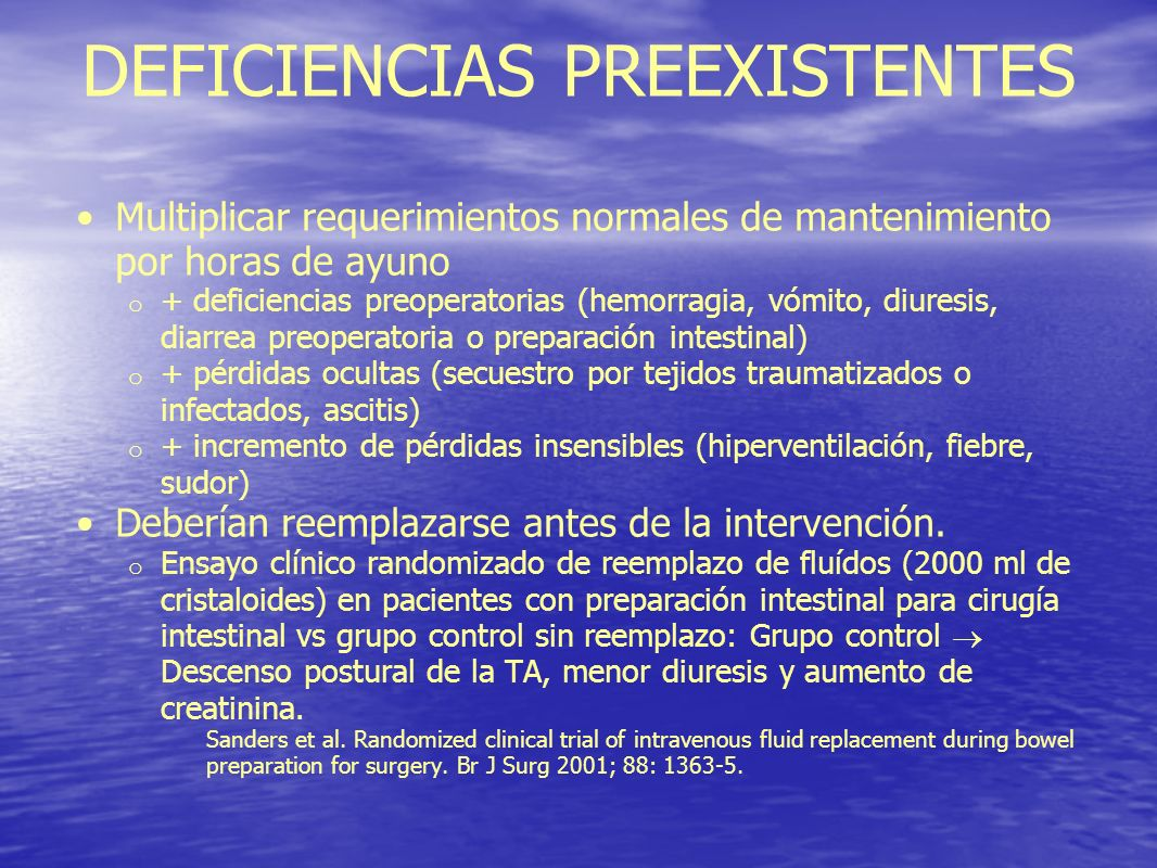DEFICIENCIAS PREEXISTENTES