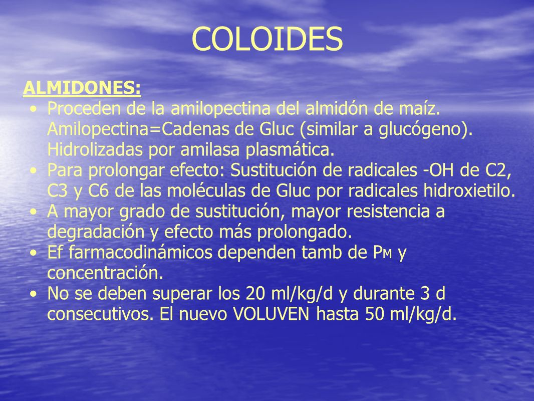 COLOIDES ALMIDONES:
