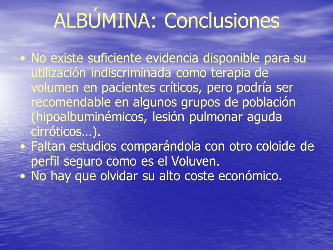 ALBÚMINA: Conclusiones