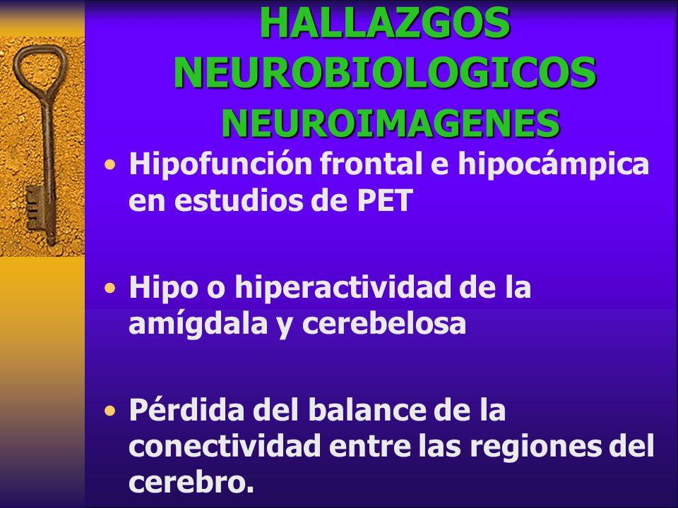 HALLAZGOS NEUROBIOLOGICOS NEUROIMAGENES