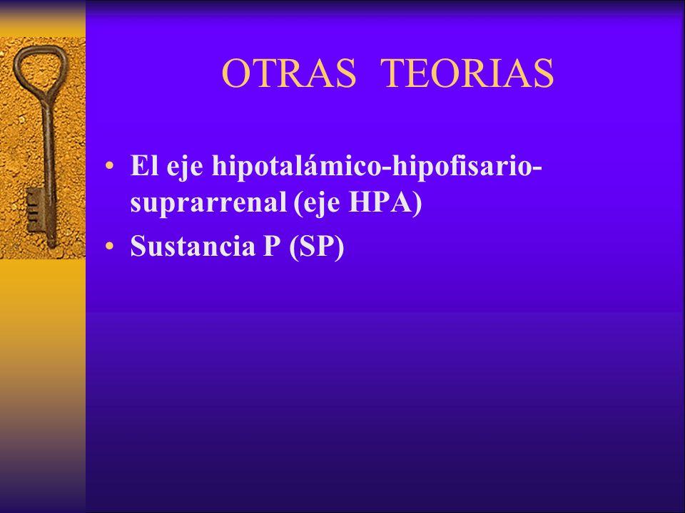 OTRAS TEORIAS El eje hipotalámico-hipofisario-suprarrenal (eje HPA)