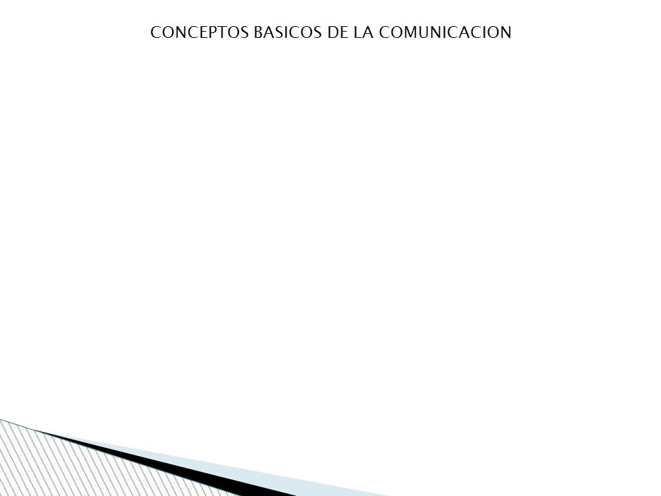 CONCEPTOS BASICOS DE LA COMUNICACION