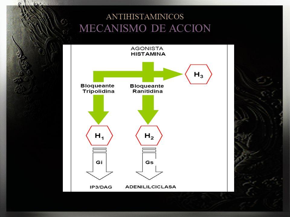 ANTIHISTAMINICOS MECANISMO DE ACCION