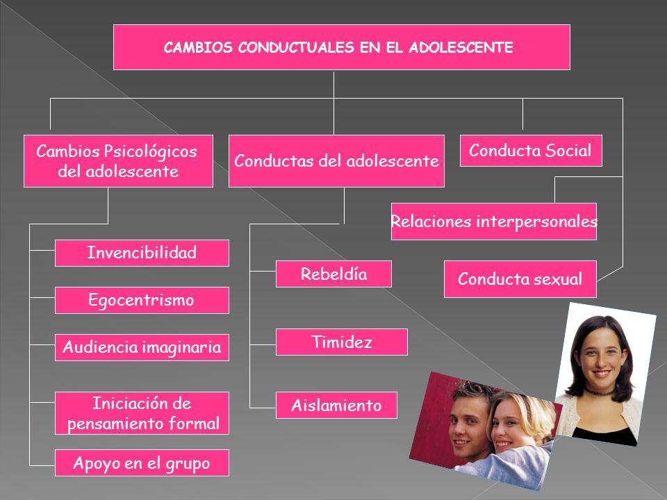 CAMBIOS CONDUCTUALES EN EL ADOLESCENTE